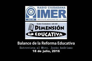 Dimensión educativa 28 - 18 de julio 2016
