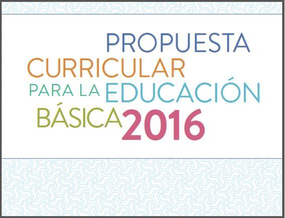 Propuesta curricular 2016