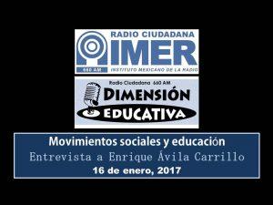 Dimensión educativa 52 - 16 de enero 2017