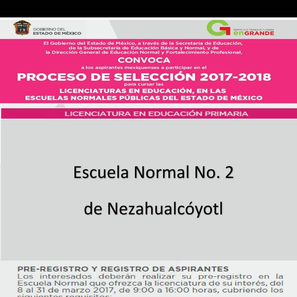 Convocatoria EN2N 2017