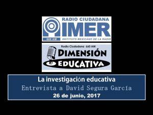 Dimensión educativa 70 - 26 junio 2017