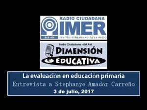 Dimensión educativa 70 - 3 julio 2017