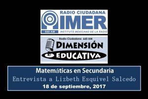 Dimensión educativa 78 - 18 sept 2017