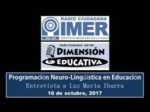 Dimensión educativa 81 - 16 octubre 2017