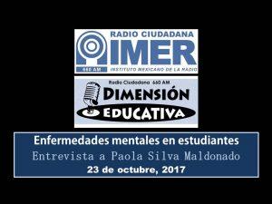 Dimensión educativa 82 - 23 octubre 2017