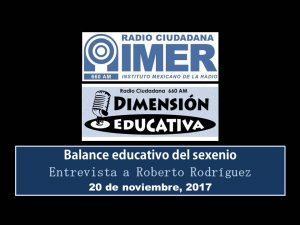 Dimensión educativa 86 - 20 noviembre 2017