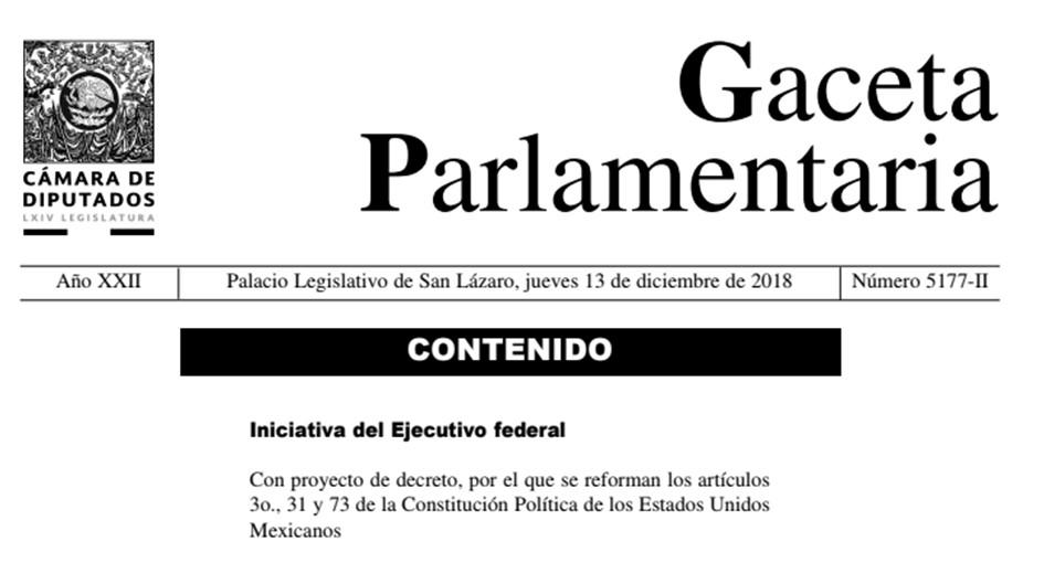 Iniciativa decreto 2018