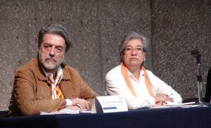 Luciano Concheiro y Rosa María Torres.